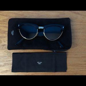 Celine Metal & Acetate Cat-Eye Sunglasses
